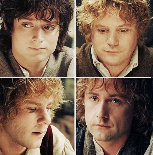 Frodo Sam Merry And Pippin At The Green Dragon After Aragorn S