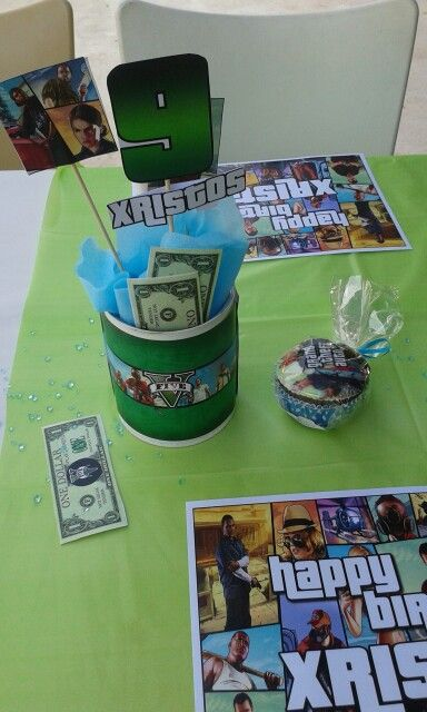 GTA BIRTHDAY PARTY FOR A BOY