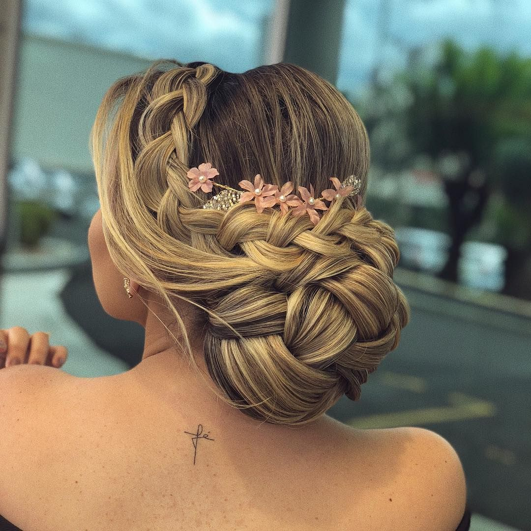 Braid updo hairstyle