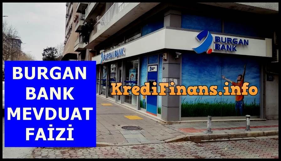 Burgan Bank Mevduat Faizi Finans