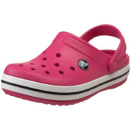 crocs Crocband Kids, Unisex - Kinder Clogs, Pink (Neon Magenta/Citrus), 19/21 EU