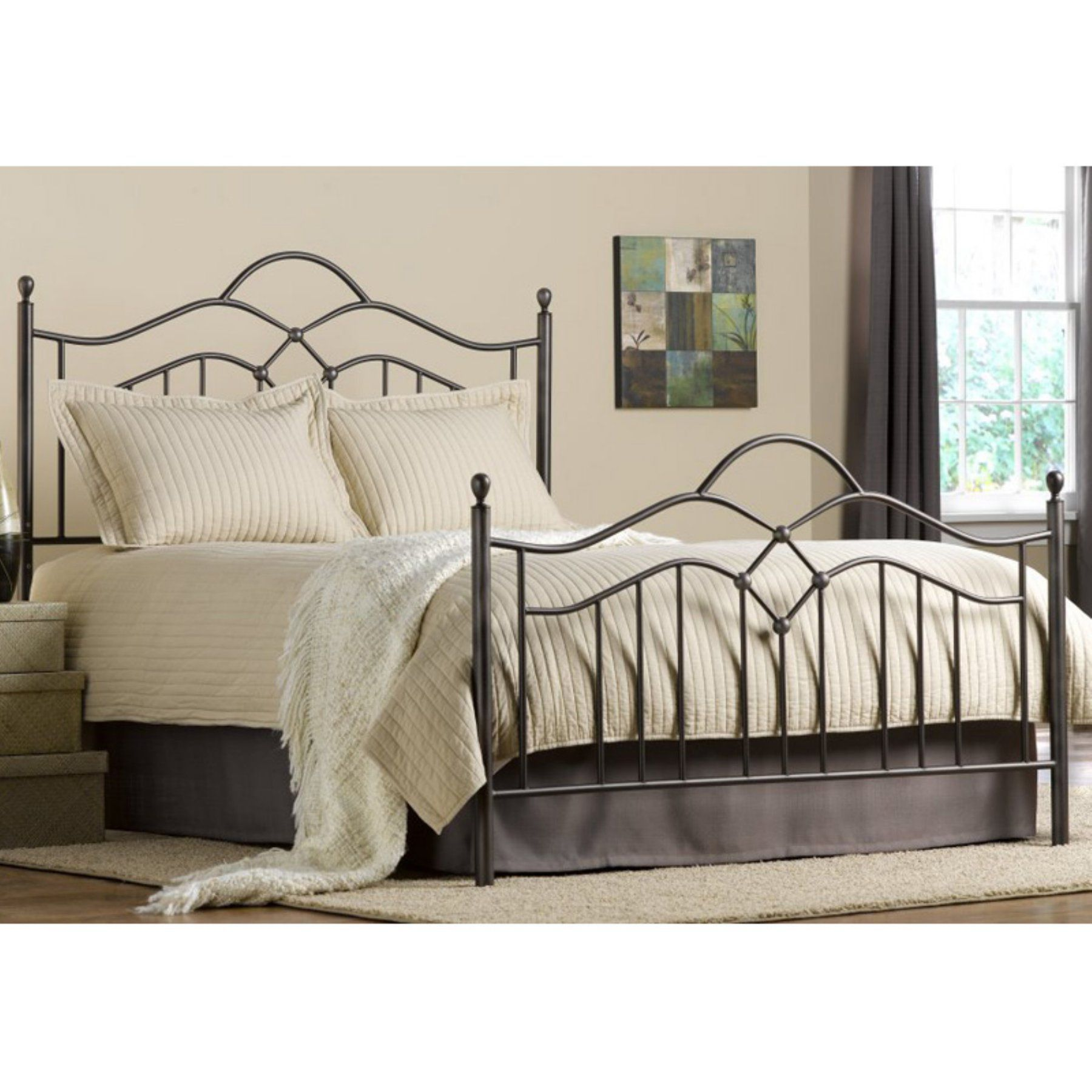 Hillsdale Oklahoma Metal Bed Full bedding sets, Queen