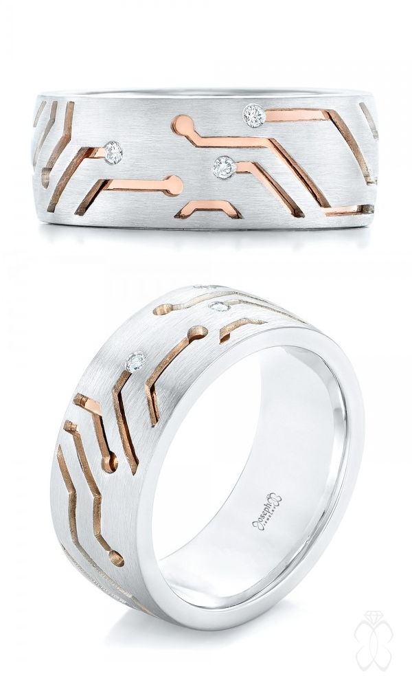 21 Unexpected Men S Wedding Rings For Every Personality Custom Two Tone
