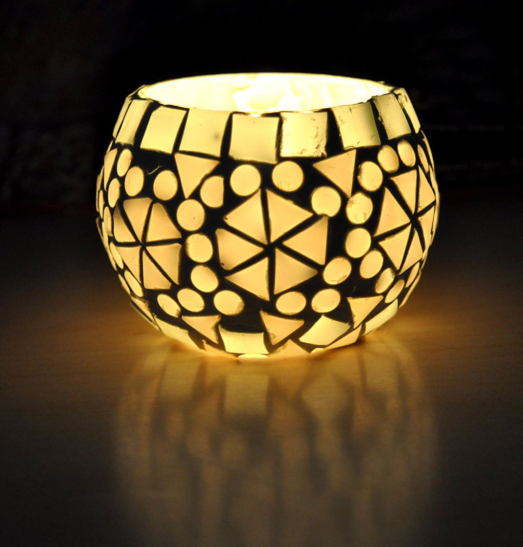gbp white mosaic glass tea light holder floor lamp moroccan