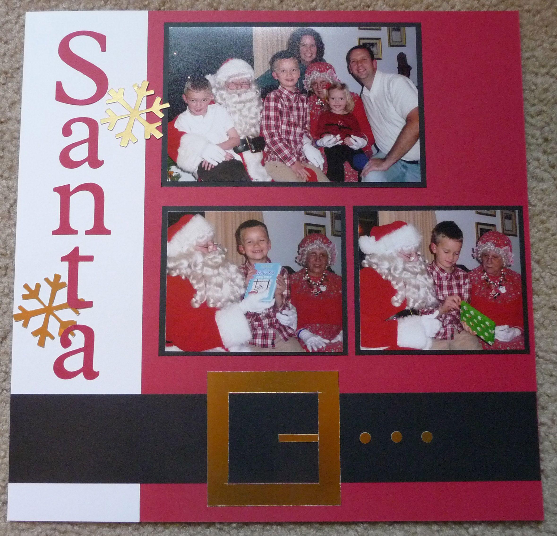 Santa visit scrapbook page | Scrapbook | Pinterest