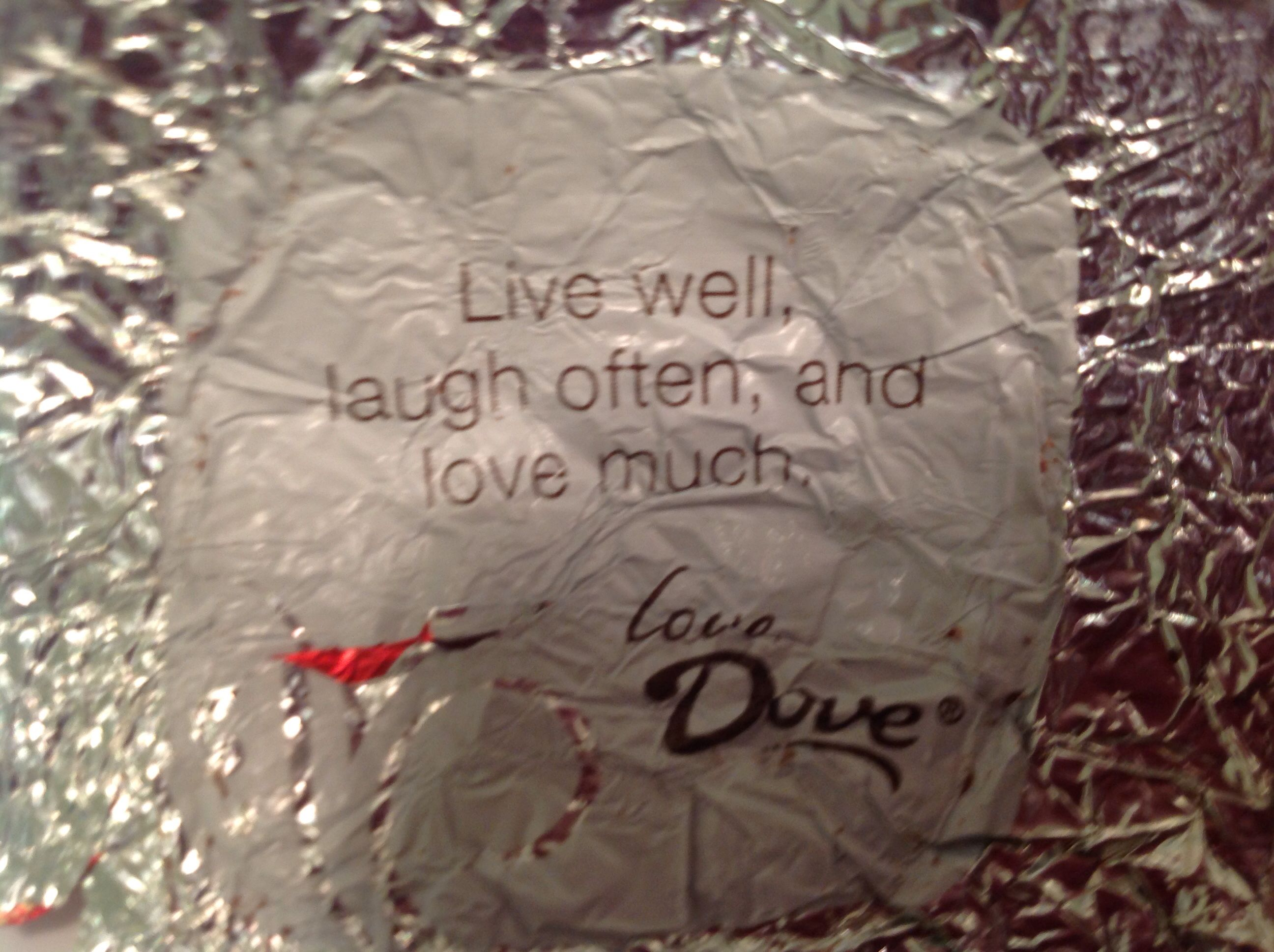 Dove chocolate wrapper | Sweet | Pinterest