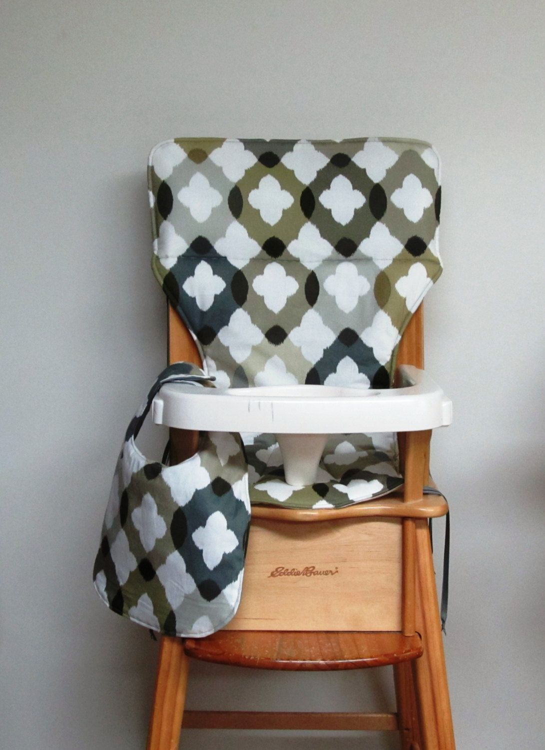 Eddie Bauer Chair Pad, High Chair Cover, Jenny Lind Chair Cover, Baby  Feeding Chair, Baby Accessory, Child Care, Shadows With Matching Bib By ...