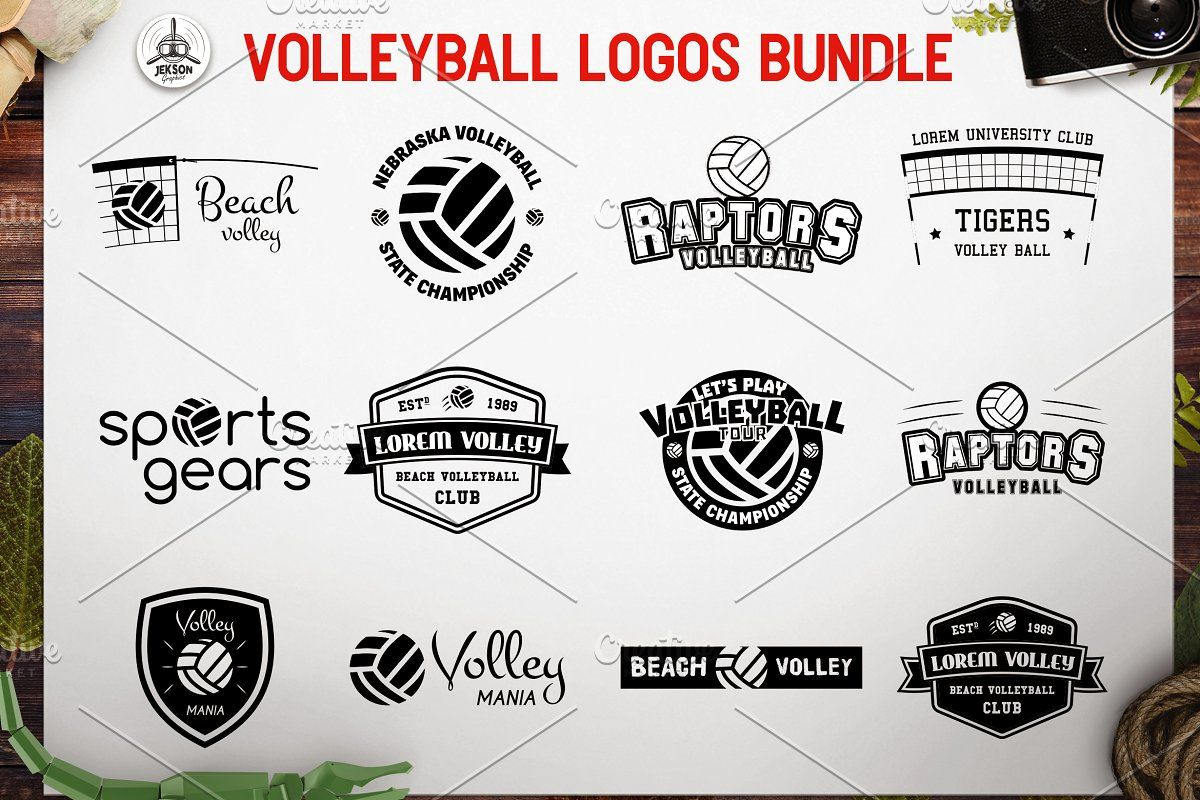 Sports Volleyball Badges And Logos Logo Set Sport Volleyball Logo Templates