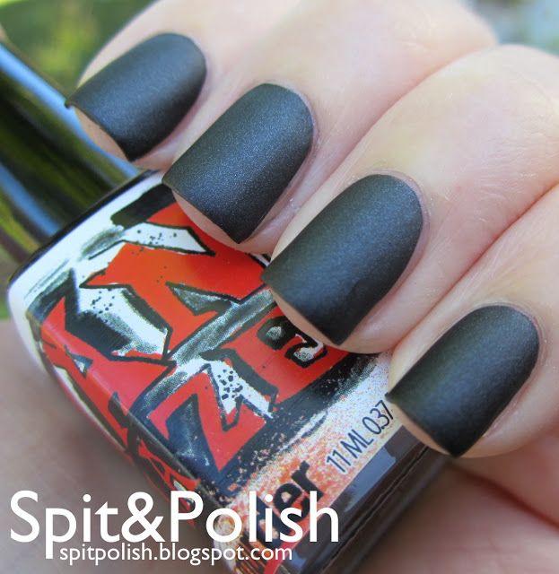 Spit & Polish: ManGlaze - Matte is Murder | I want matte black nails ...