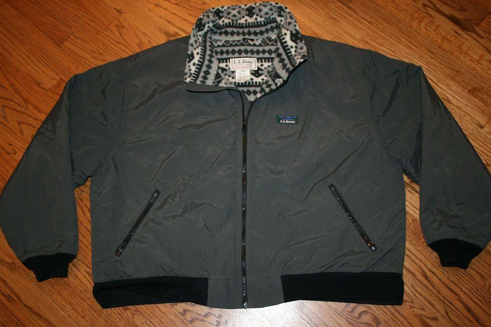 Ll Bean Warm Up Jacket Mens 2x Large 2xl Nylon Fleece