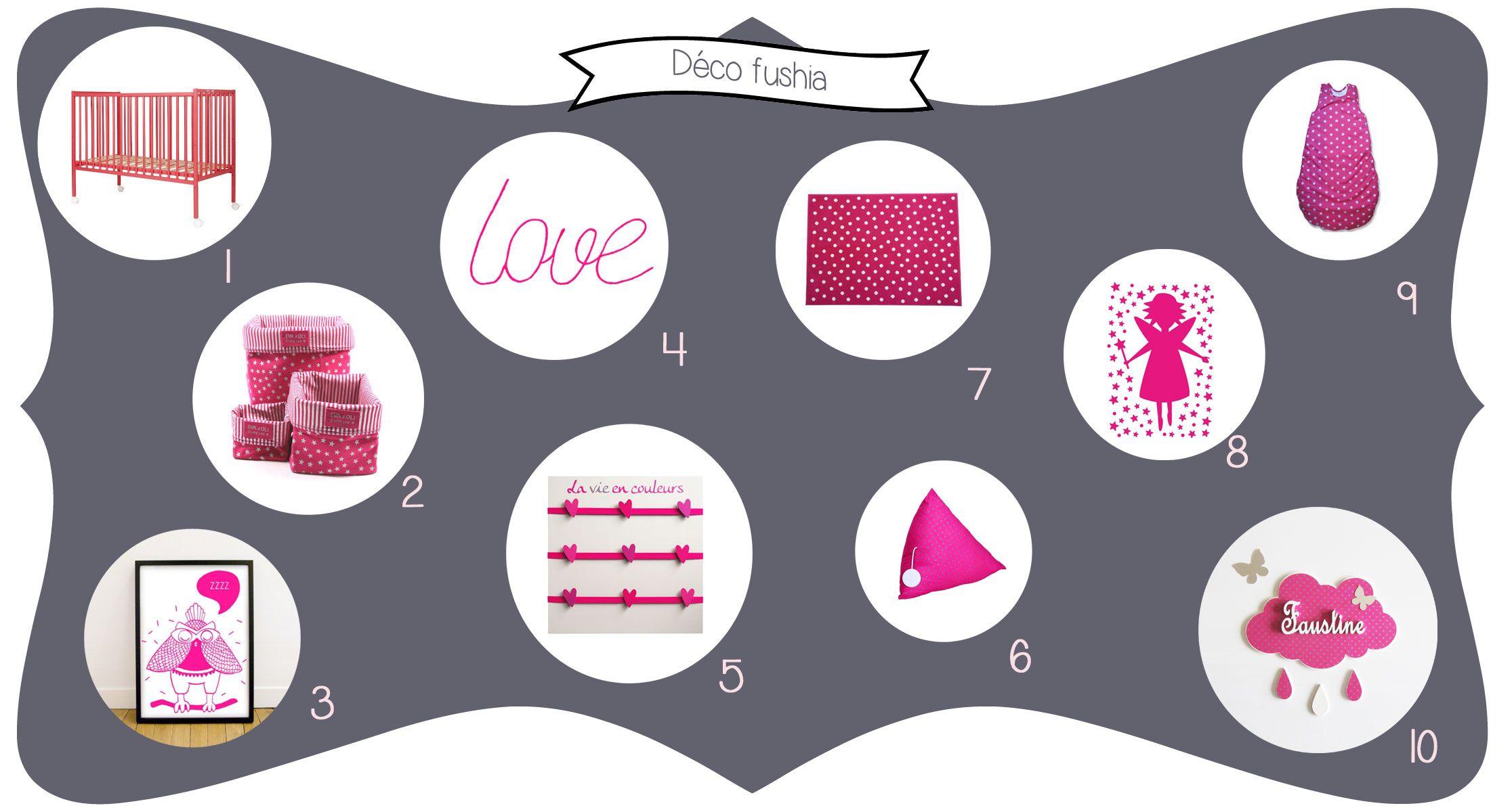 Idée déco chambre bébé fushia - rose  Idée déco chambre bébé