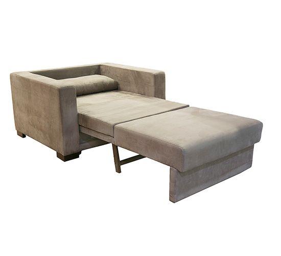 Sofa cama solteiro sofia sued capuccino casa pinterest for Poltrona cama individual
