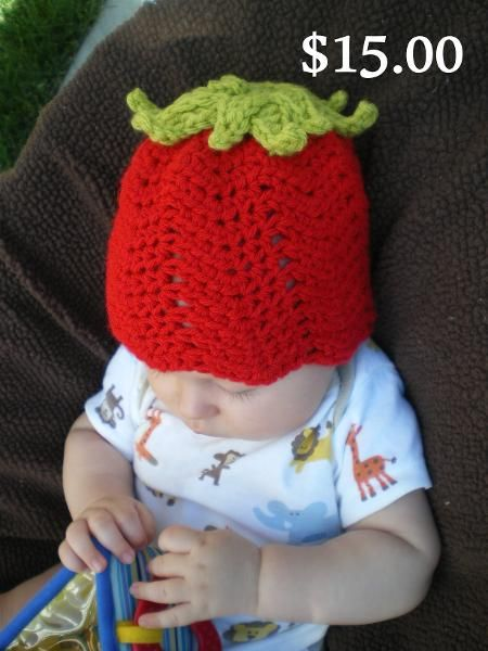 www.honeycrispcrochet.weebly.com  Strawberry hat free pattern to come