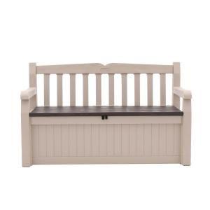 Keter Eden 70 Gal Outdoor Garden Patio Deck Box Bench In