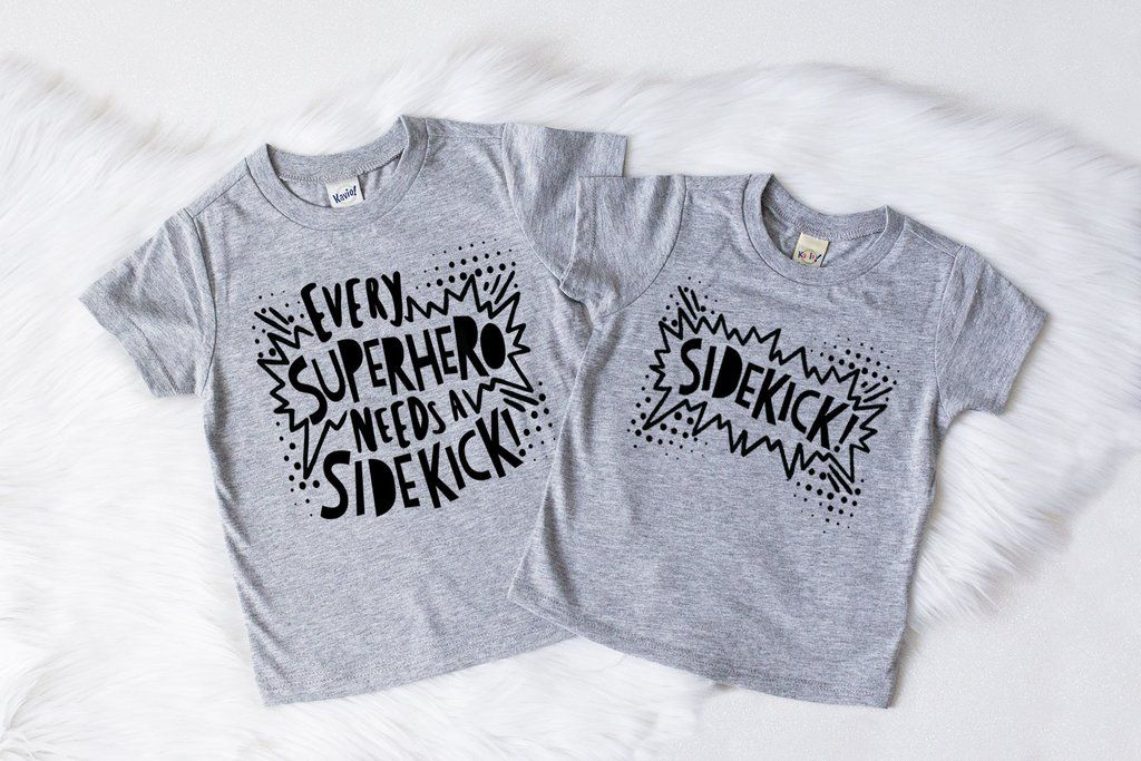 d5b2d69f55 Every super hero needs a sidekick! Trendy matching kids shirts.