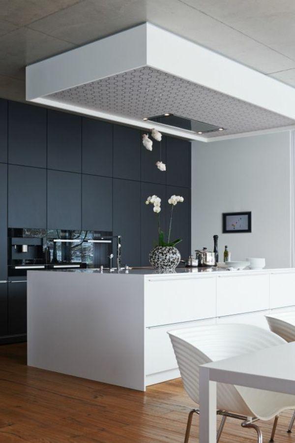 küchenideen weiße kücheninsel graue wandfarbe | Base Giratoria ... | {Küchenideen 1}