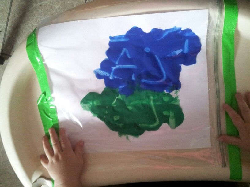 Mess free finger paints