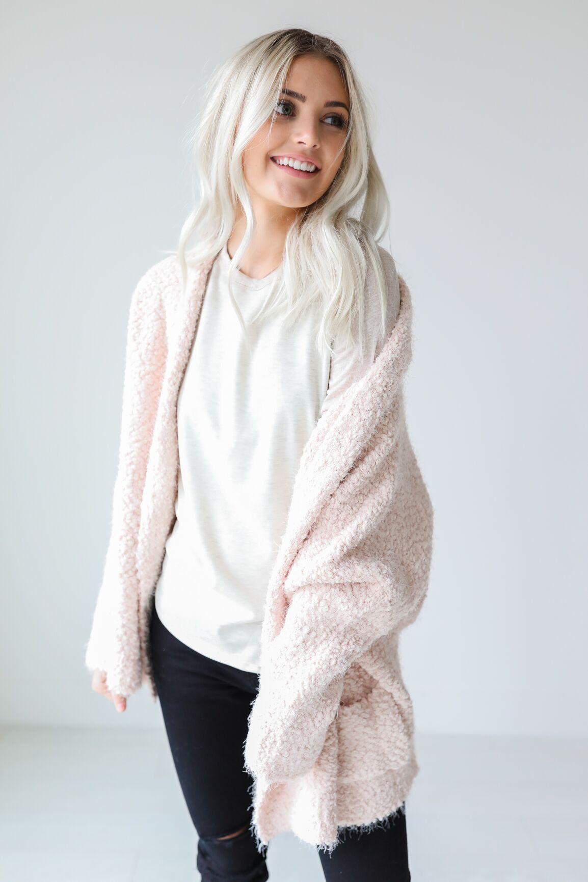 Darian Fuzzy Cardigan | • Sites • | Pinterest | Light pink ...