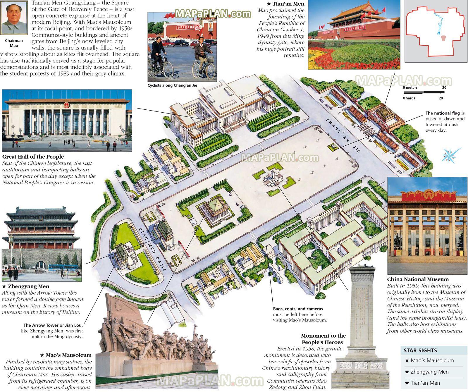 Tiananmen Square Walking Trip Itinerary Planner D Virtual - Walking map planner