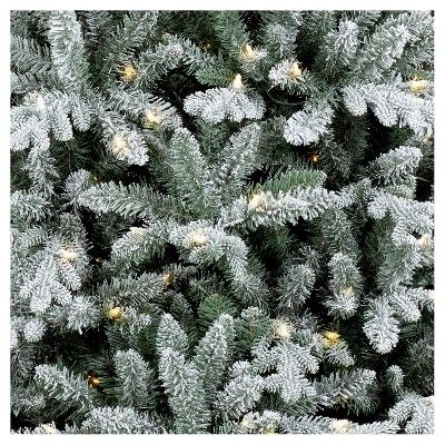 size 40 75fe6 47bf6 9ft Prelit Artificial Christmas Tree Flocked Balsam Fir ...