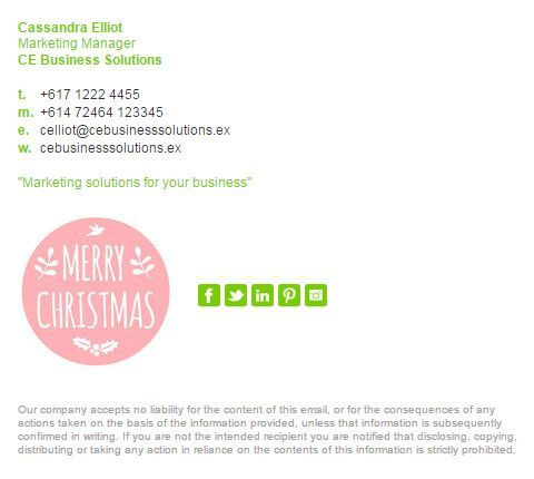 Create your own Christmas email signature template design with - email signature template