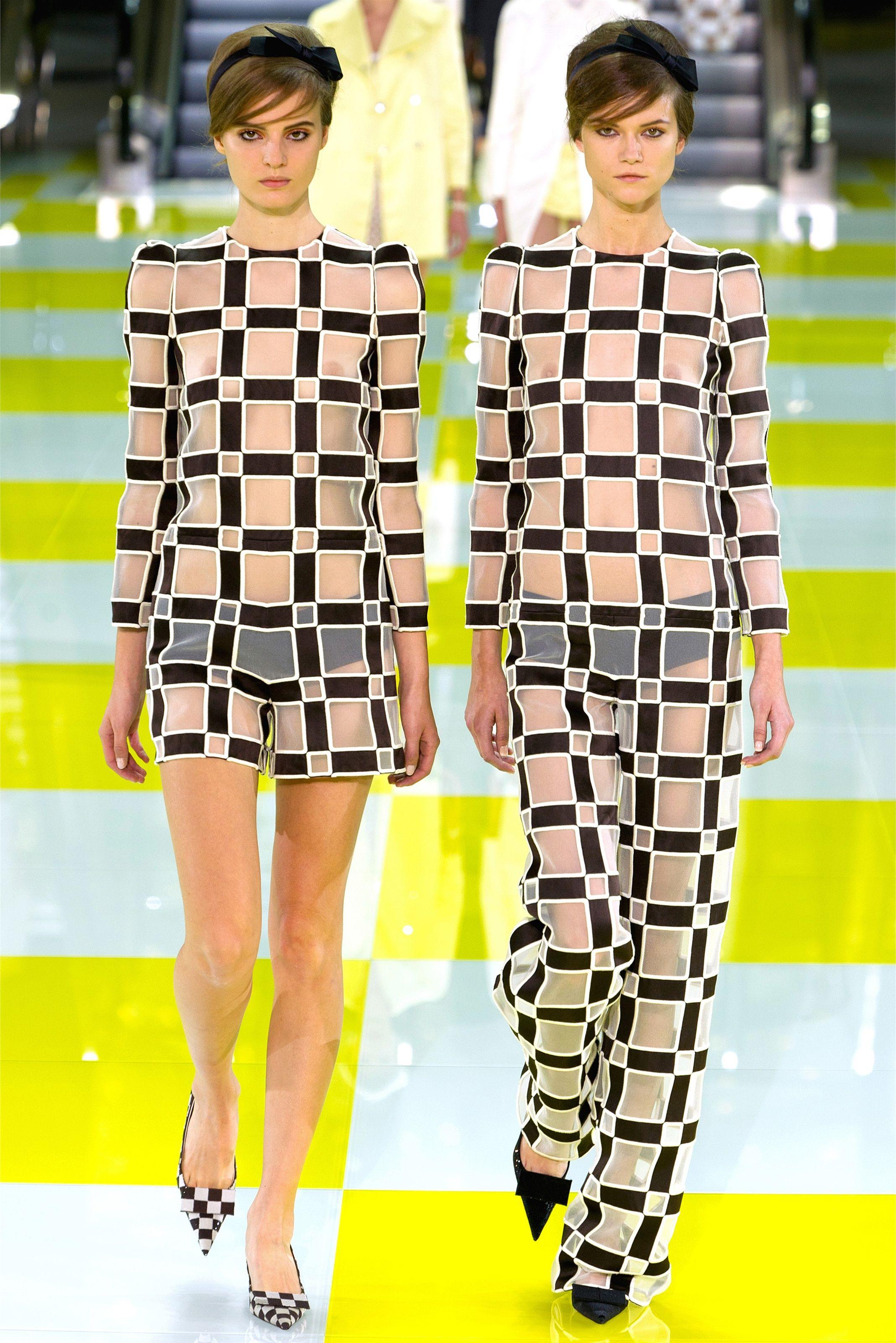 83966341e2 Look 22 Louis Vuitton Paris Spring 2013  sheer  plaid