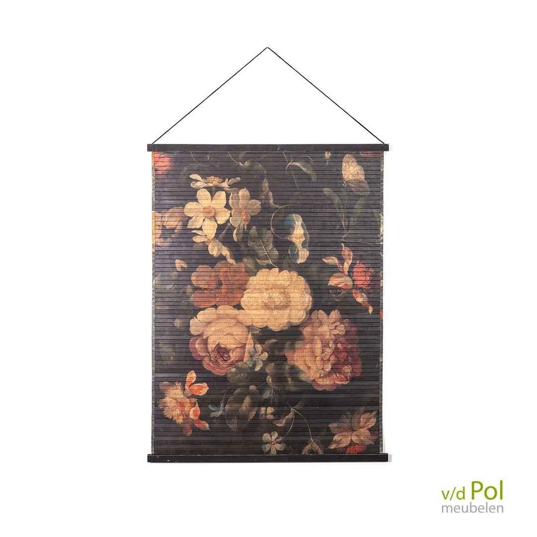 By Boo Miyagi Flowers Wanddecoratie Van De Pol Meubelen Miyagi Geschilderde Bloemen Wanddecoraties