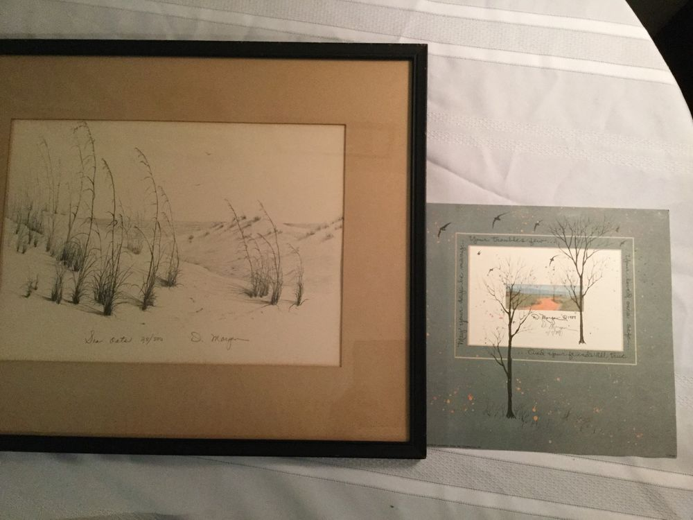 D Morgan Limited Edition Sea Oats Signed Print and D Morgan Signed Saying Card   eBay