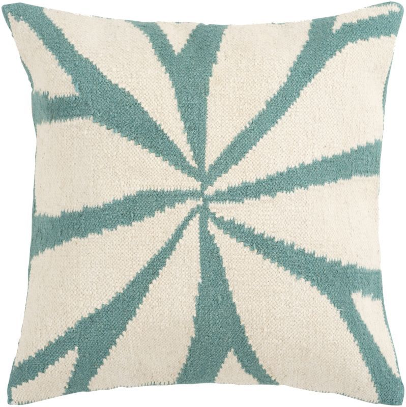 Surya FA-003 Square Indoor Decorative Pillow with Down or Polyester Filling from 22 x 22 Polyester Filler Home Decor Pillows Pillows