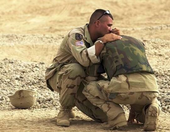 Image result for soldier comforting another soldier