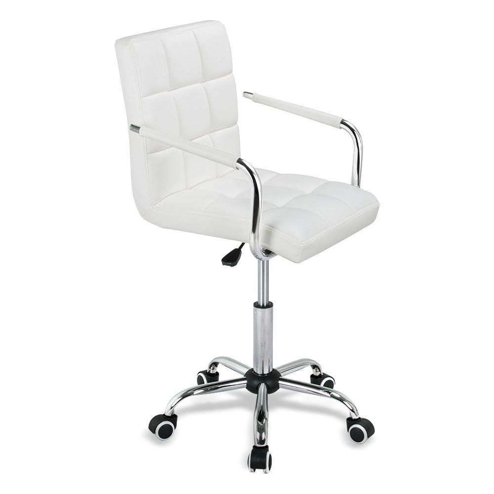 Amazon Com Yaheetech Modern Pu Leather Midback Adjustable Executive Office Chair White Kitchen Dining Best Office Chair Office Chair Desk Chair