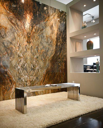each slab of granite is a magnificent work of art. why not display