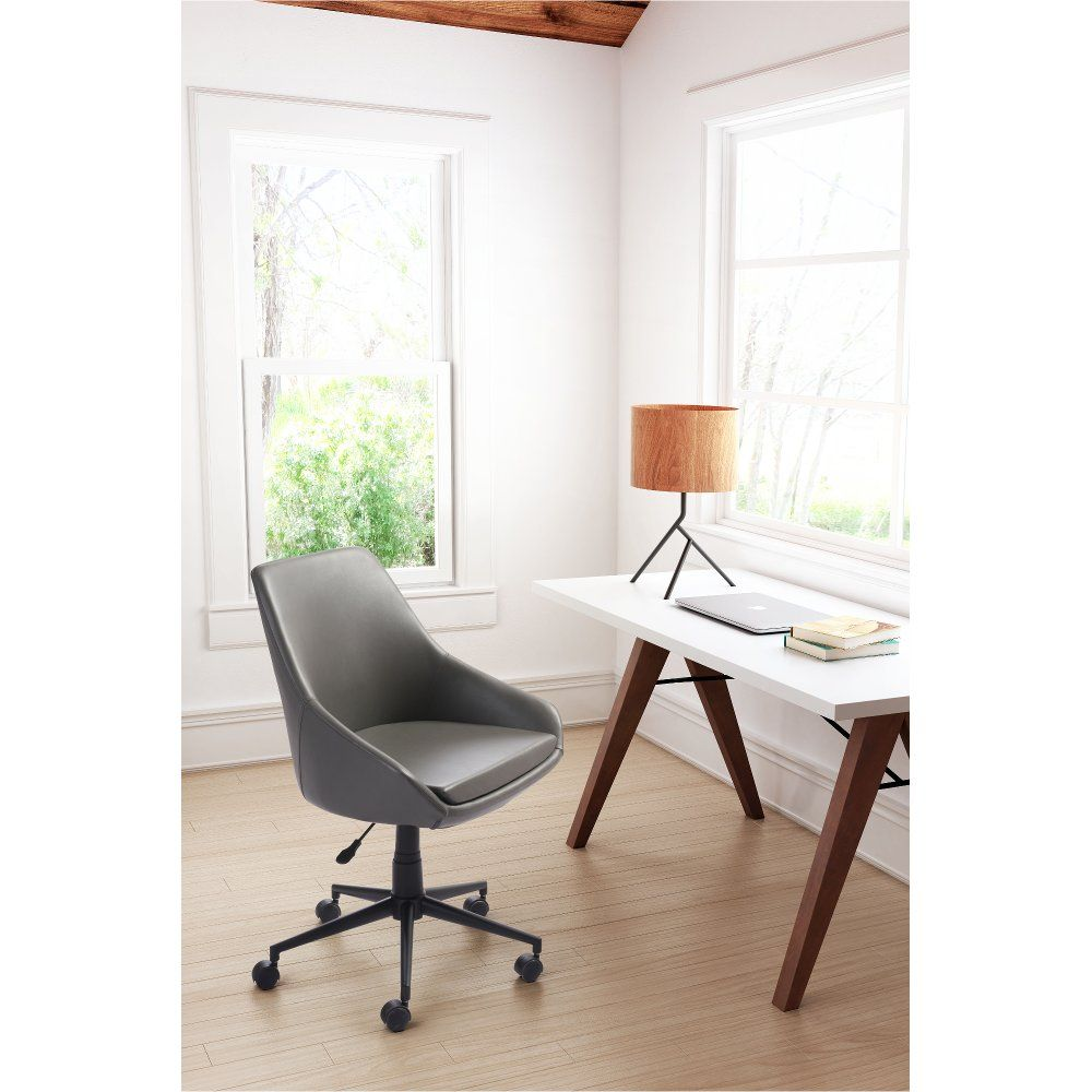 Comfortable Gray Office Chair Powell Office Chair Design Zm Home Adjustable Office Chair