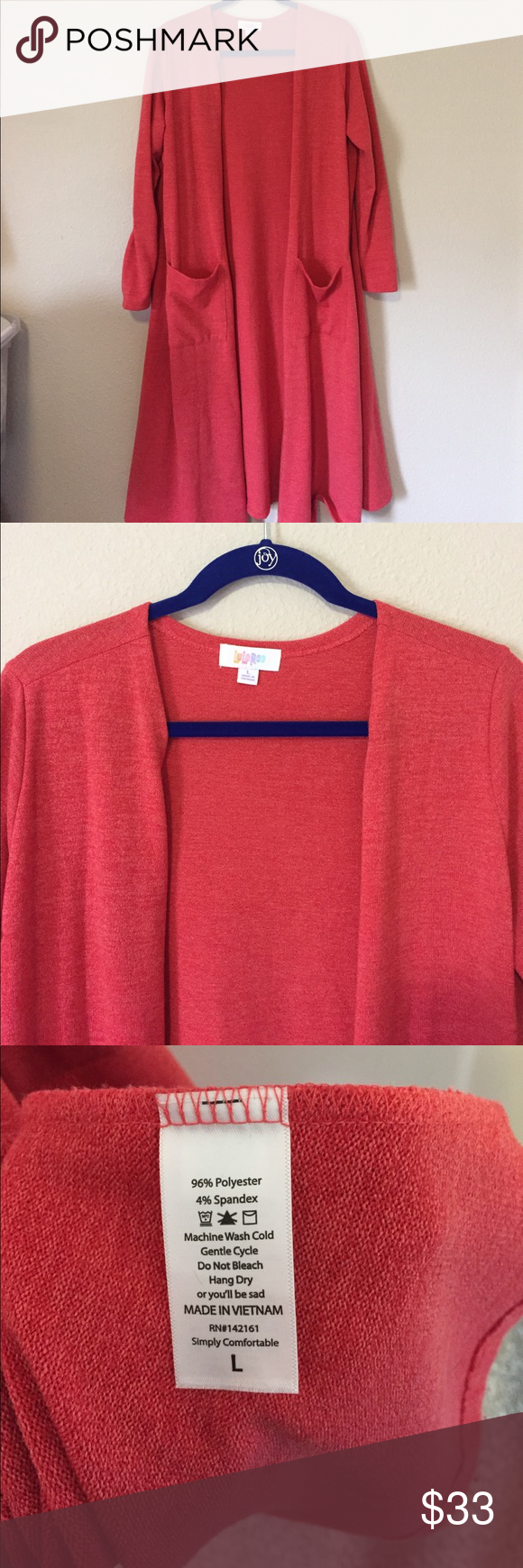 Long Sweater Duster - light red color - VGUC | Long sweater duster ...