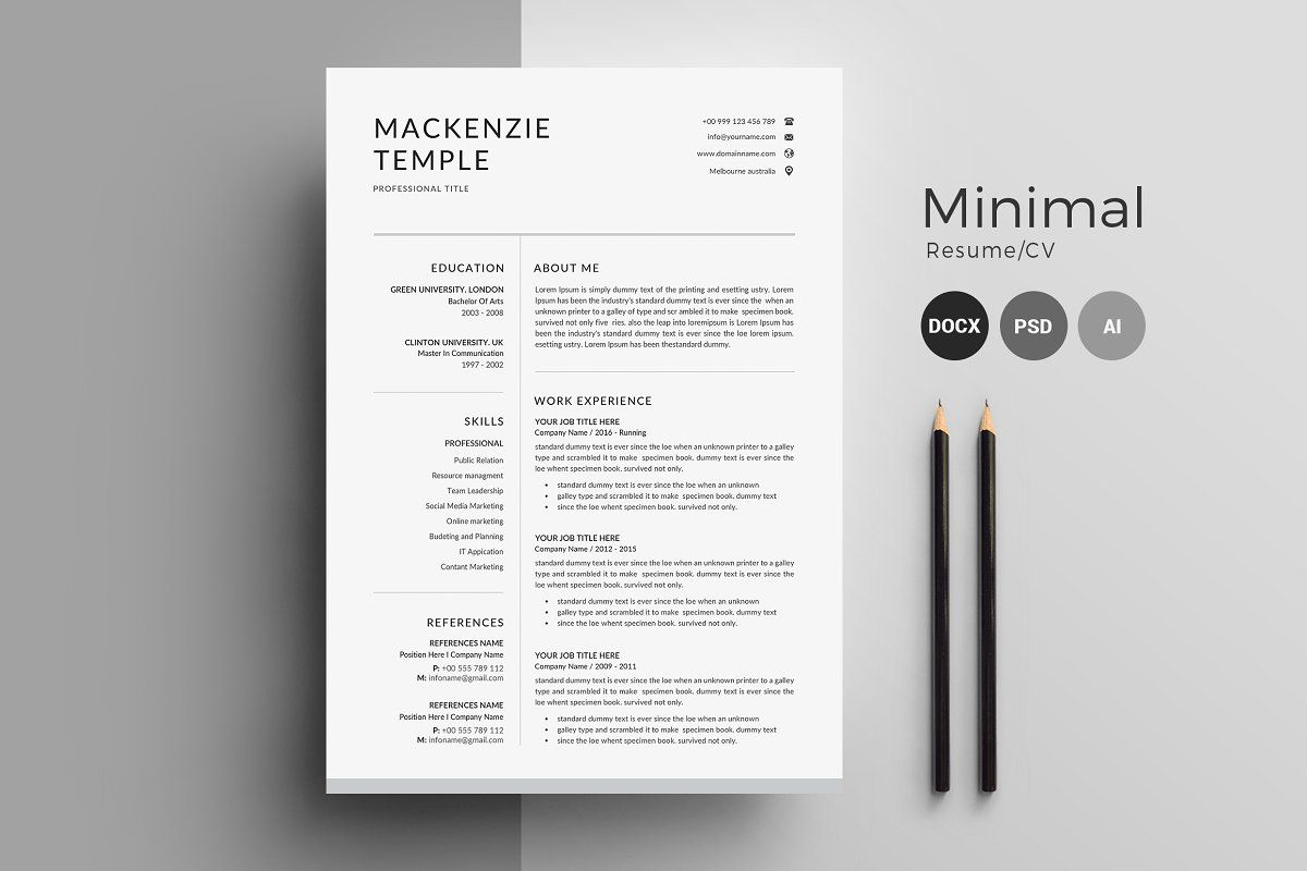 Resume Template Cv Cover Letter Resume Design Template Cv Cover Letter Cover Letter Template