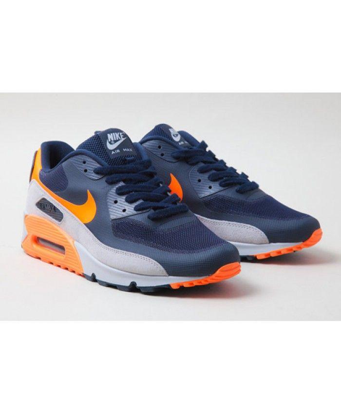 Nike Air Max 90 Hyperfuse Bleu Gris Orange | Cheap nike air max ...