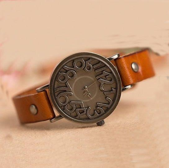 f43c45563086 Vintage Copper Solid Leather Wrist Watch   Women Watches (WAT0001-1 ...