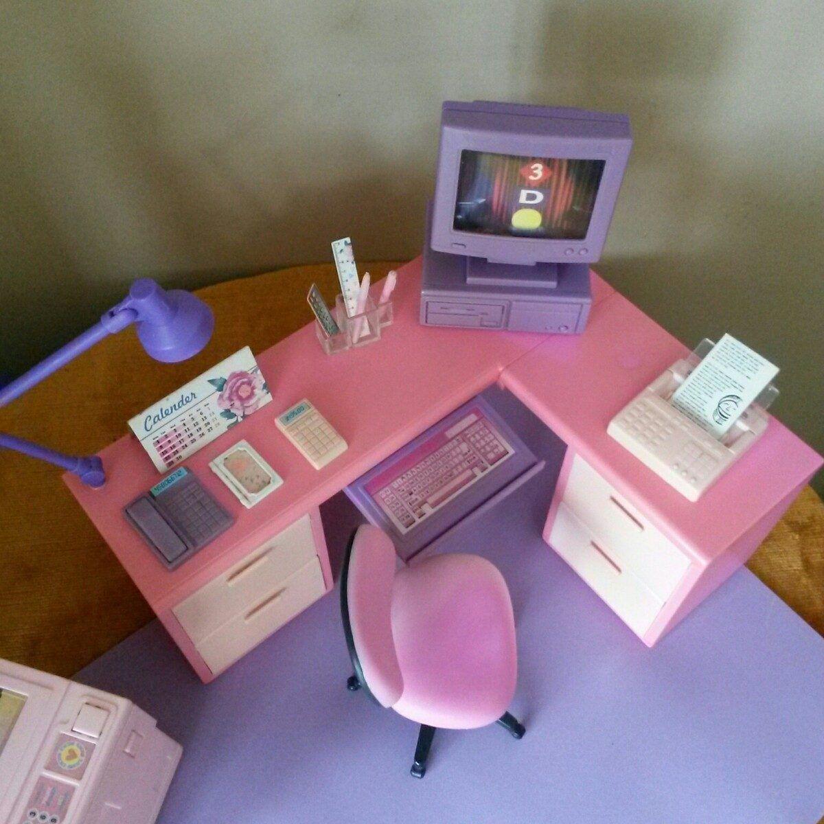 accesorios para barbie oficina accesorios para casa de