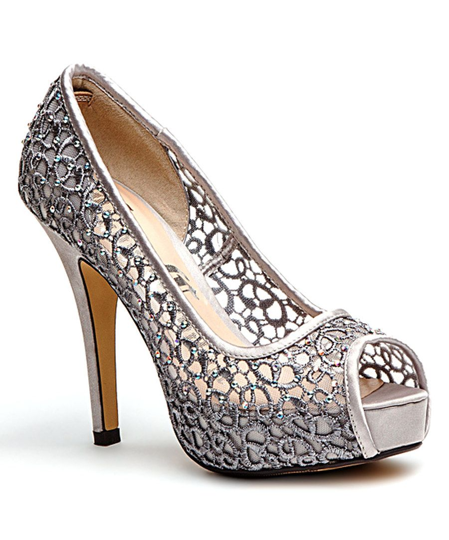577182caa3c Look at this Lady Couture Silver Lace Ivy Pump on  zulily today ...