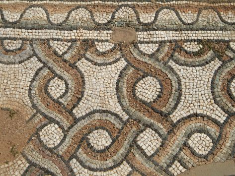 Ancient mosaic pattern
