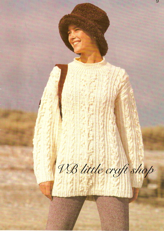 Ladys aran tunic knitting pattern instant pdf download by ladys aran tunic knitting pattern instant pdf download by vblittlecraftshop on etsy bankloansurffo Choice Image