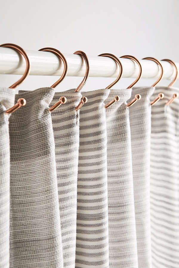 Copper Shower Curtain Hooks Set Products In 2019 Bathroom