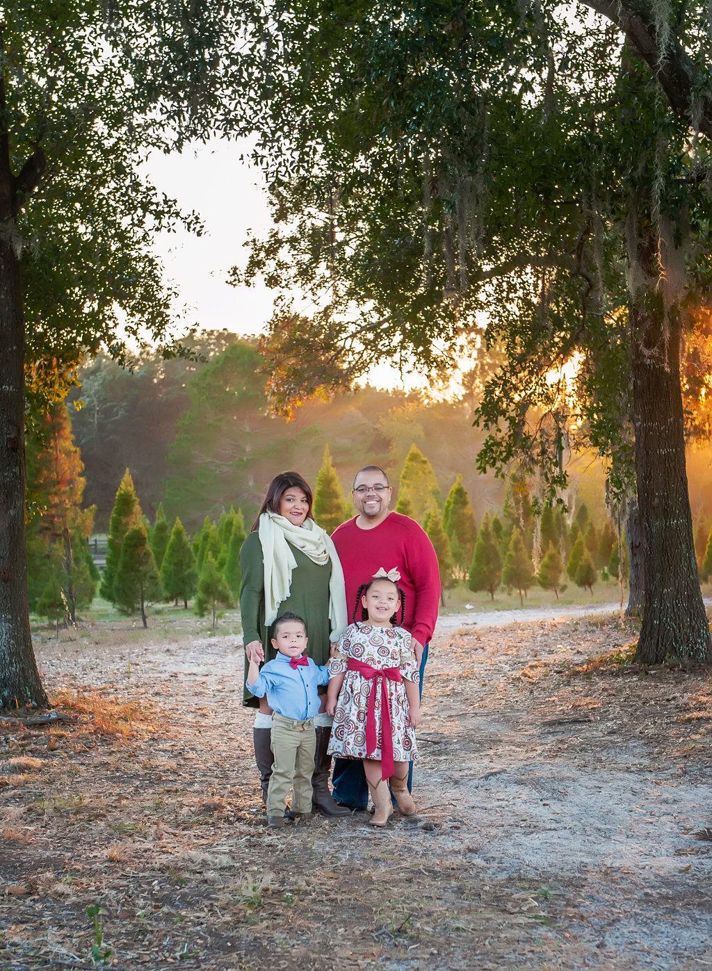 Family Photography Christmas Tree Forest Christmas Portraits Christmas Tree Farm