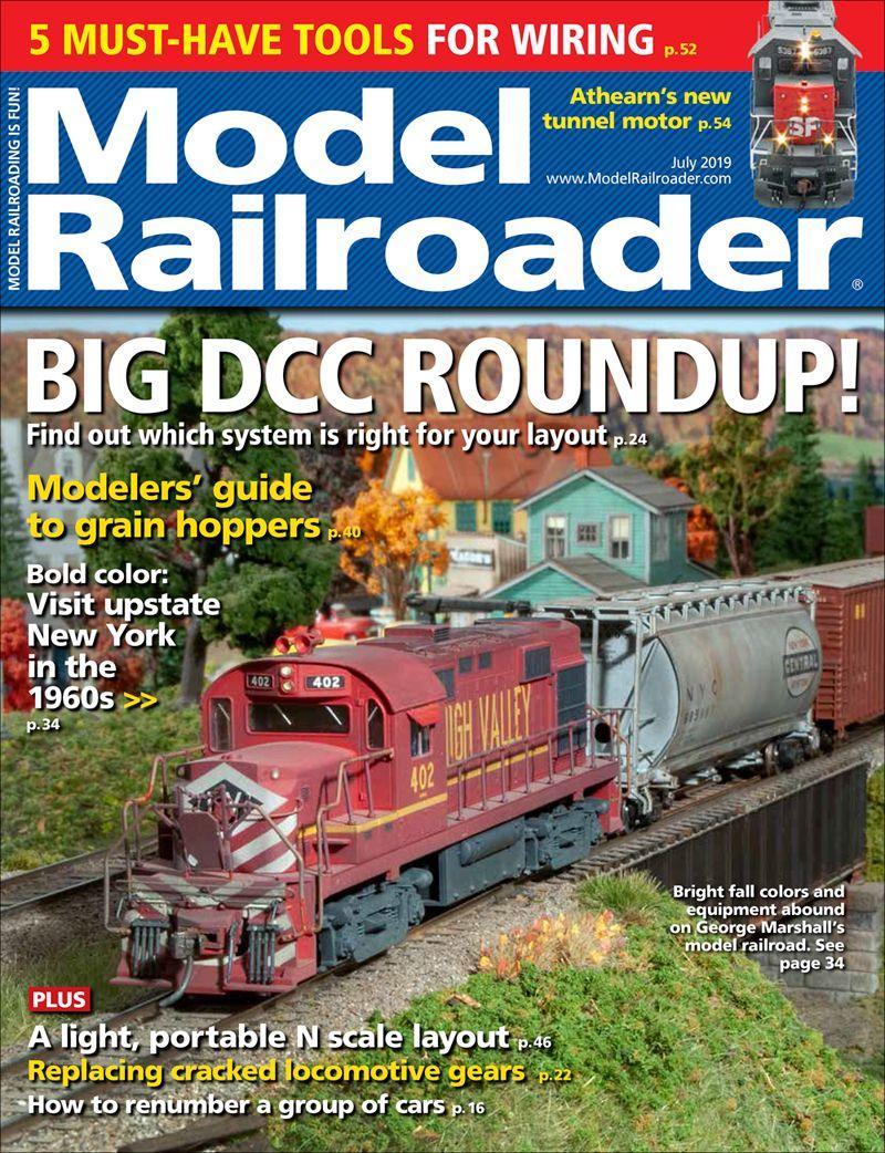 July 2019 Modelrailroader Com Model Railroad Deck Layout Model Trains