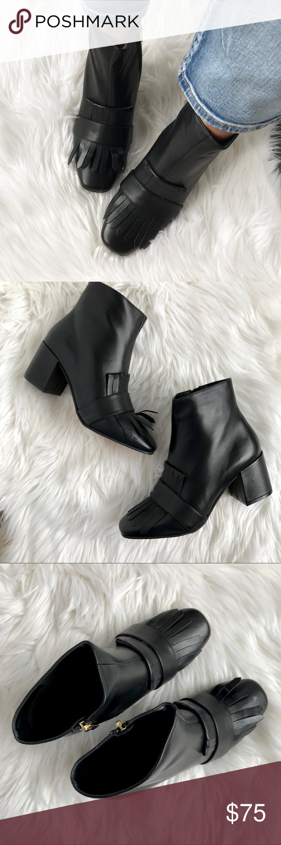 d00c01fe464 Steven by Steve Madden Black shooter kiltie bootie Steven by Steve Madden  Black shooter kiltie bootie. Size 8 (True to size) Square toe. Kilted vamp.