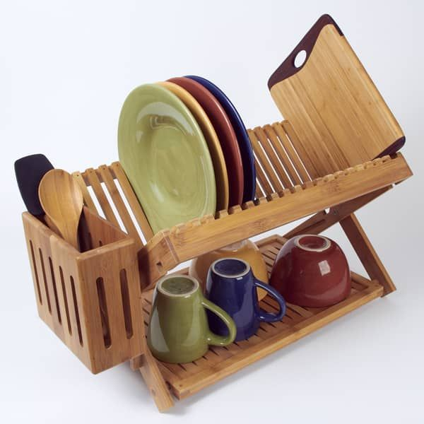 Bamboo Dish Rack #dishracks