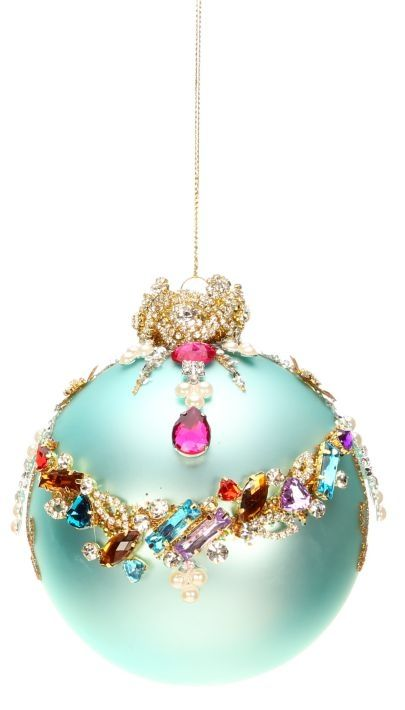 Mark Roberts Christmas Ornaments | King's Jewel Collection | Jeweled Ornaments | Swag Ornament | Blue Ornaments | 36-43976