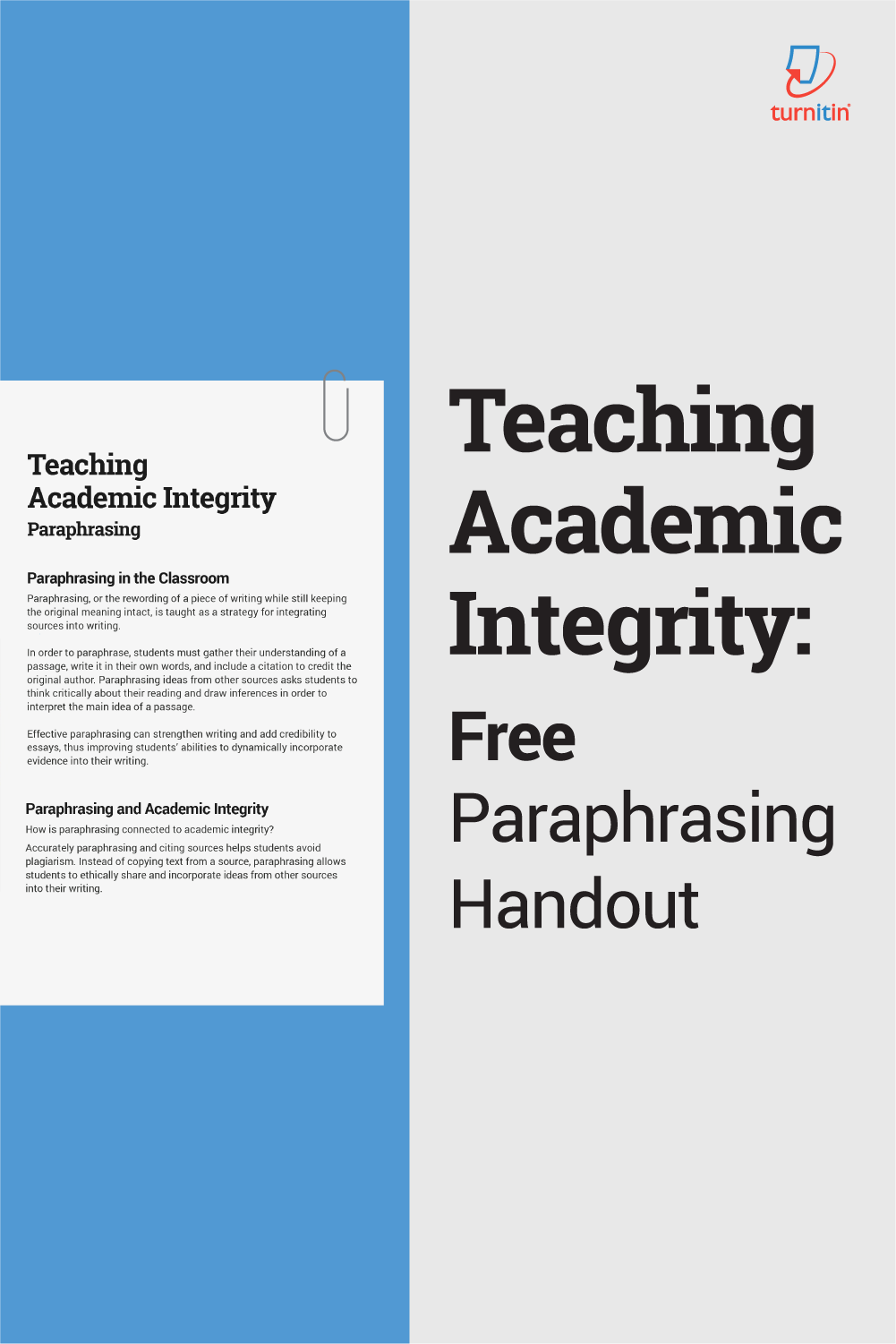 Paraphrasing Handout One Pager Free Teaching Citing Sources Paraphrase