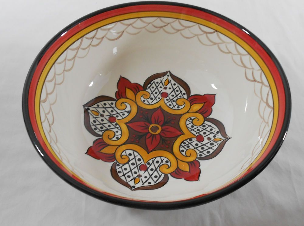 Home Accents Mexican Design Natalia Large Serving Bowl | Home \u0026 Garden Kitchen Dining & Home Accents Mexican Design Natalia Large Serving Bowl | Mexican designs