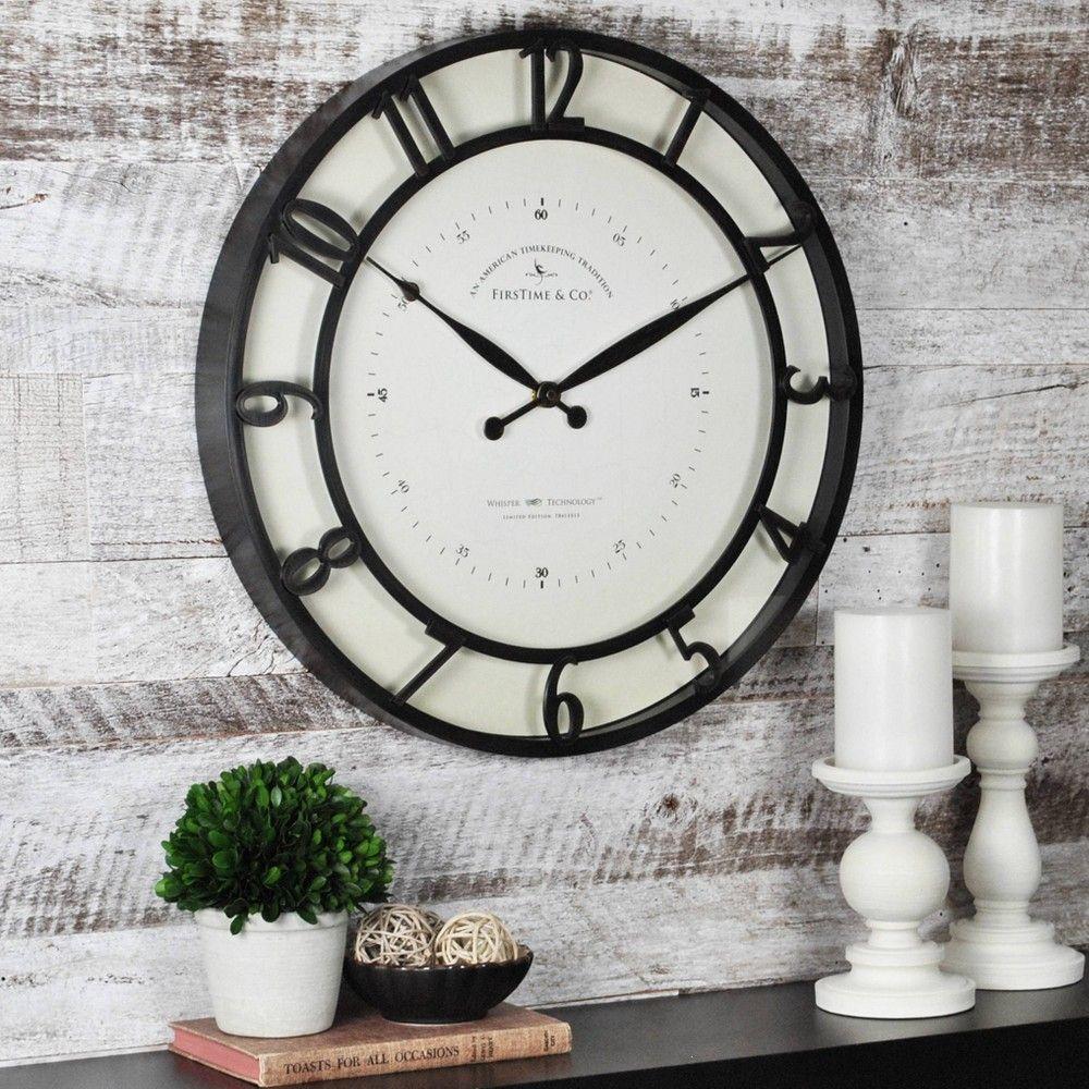 Kensington 18 Round Wall Clock Oil Rubbed Bronze Firstime Wall Clock Outdoor Wall Clocks Round Wall Clocks
